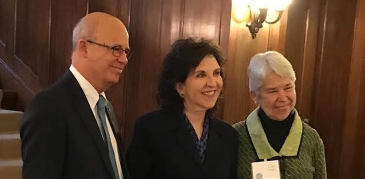 TAU president Klafter, Koret president Friedman and UC Berkeley chancellor Christ at the KBT initiative inauguration (UCB)